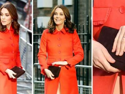 Pregnant Kate Middleton stands out again in £220 red Boden coat - buy it now before it sells out