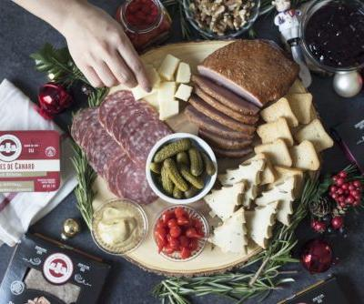 Holiday Charcuterie Board with Rosemary Shortbreads