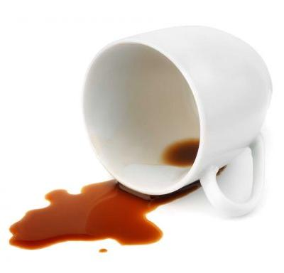 A plane carrying nearly 330 passengers had to be diverted after someone spilled coffee
