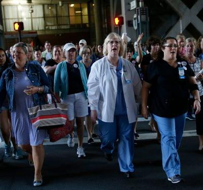 Thousands of nurses tired of working with too many patients will walk out of hospitals in a 4-state strike tomorrow