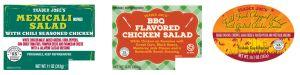 Listeria and/or Salmonella in certain Fresh Salads prompts Trader Joe's Recall