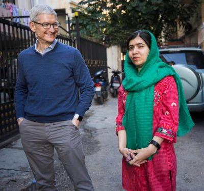 Apple CEO Tim Cook and Malala are joining forces to get 100,000 underprivileged girls into school