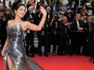 Cannes 2019: Hina Khan brings glamour to red carpet in sheer off-shoulder tulle dress. See pics