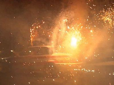 Star-Spangled Tire Shredding $350 BMW Is Here To Out-'Murica Us All With Fireworks