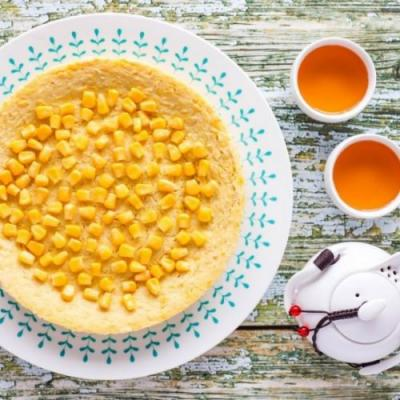 Steamed Sweet Corn Cake