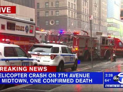 One Dead After Helicopter Crashes Into Midtown Manhattan Building: Reports