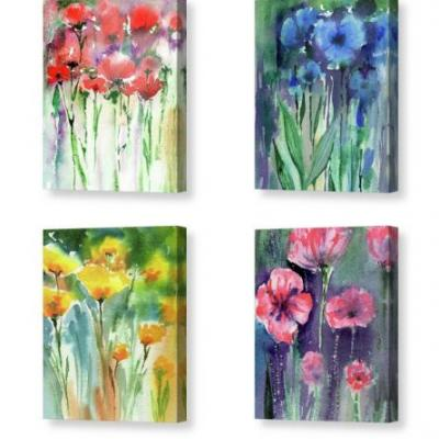 Abstract Floral Designs Free Fresh Brush Strokes Watercolor Flowers
