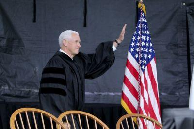Notre Dame students walk out of Pence's commencement speech in protest