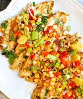 Zesty Lime Grilled Chicken with Pineapple Salsa