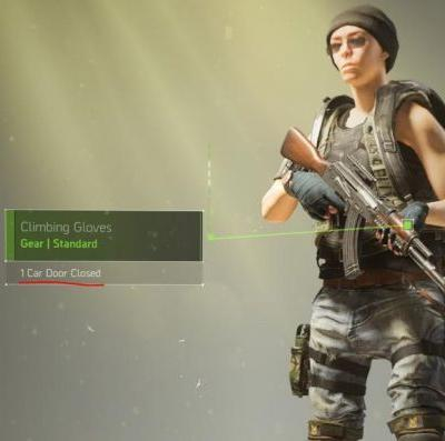 Gloves in The Division 2 track how many times you closed car doors