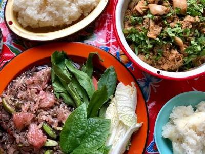 Thai Pomelo and Crab Paste Salad