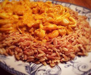 Fried Orzo with Seafood