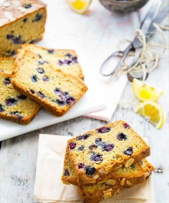 Healthy blueberry lemon quick bread
