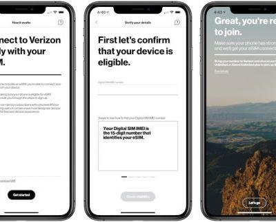 Verizon App Now Allows eSIM Activation on iPhone XS, iPhone XS Max, and iPhone XR
