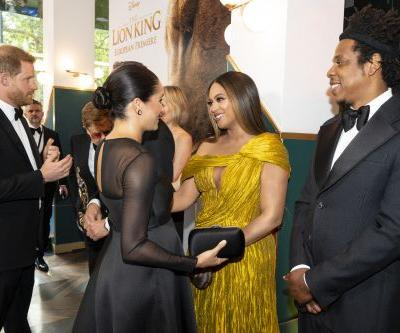 Beyonce & JAY-Z's Baby Advice For Meghan & Harry At The 'Lion King' Premiere Is On Point
