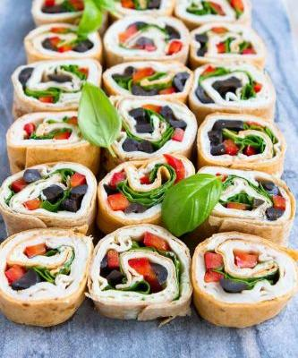 Turkey Pesto Tortilla Roll Ups