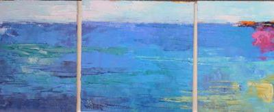 Abstract Painting, Small Oil Painting, Daily Painting, Triptych Painting