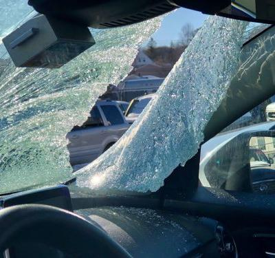 'It could have killed her': 6-year-old injured when ice flies off truck, crashes through car windshield