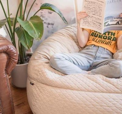Popular mattress startup Tuft & Needle created a bean bag chair so comfortable I'm not even upset I had to carry it up 4 flights of stairs to get it home