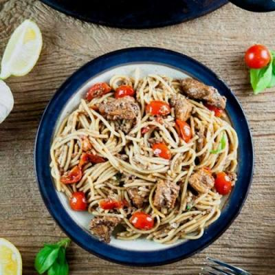 Balsamic Tomato Chicken Pasta