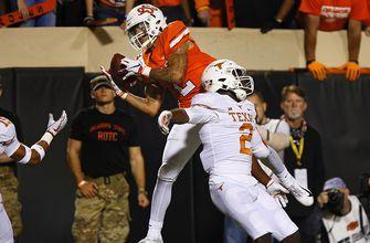 Wallace explodes for 222 yards and 2 TDs as Oklahoma State knocks off No. 6 Texas 38-35