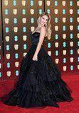 Once You See Lily James's Dress, You'll Understand Why She Had So Much Fun on the BAFTAs Red Carpet