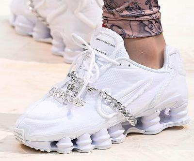 COMME des GARÇONS Debuts Iced-Out Nike Shox Models for SS19