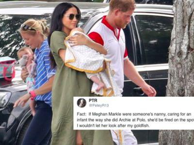 The Photos Of Meghan Holding Baby Archie At Harry's Polo Match Have Mommy-Shamers Riled Up