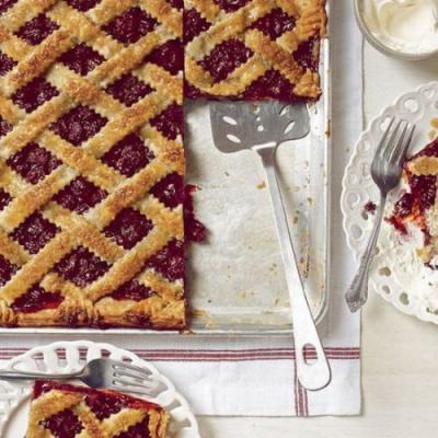 Sweet Cherry Sheet Pan Pie