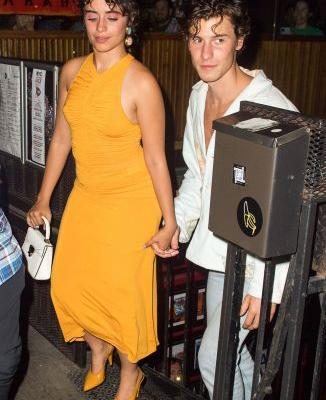 Date Night! Camila Cabello Stuns in Yellow Dress With Boyfriend Shawn Mendes in NYC