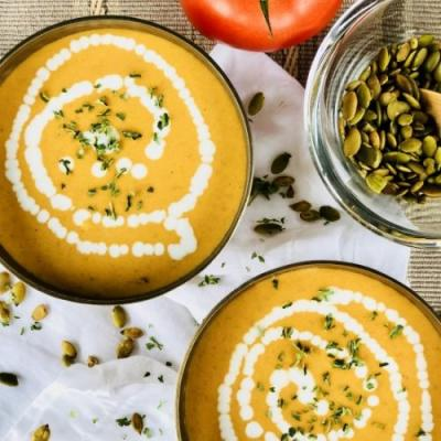 Roasted Tomato and Pumpkin Soup