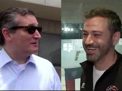 Here's All the Trash Talk Ted Cruz and Jimmy Kimmel Shared Before the Big 'Blobfish Basketball Classic' in Houston