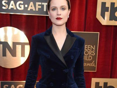 You Can Expect A Lot More Epic Suits From Evan Rachel Wood This Season