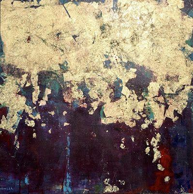 "Mixed Media, Contemporary Abstract Expressionist Painting, ""WE ARRIVE COMPLETE"" by Abstract Artist Pamela Fowler Lordi"
