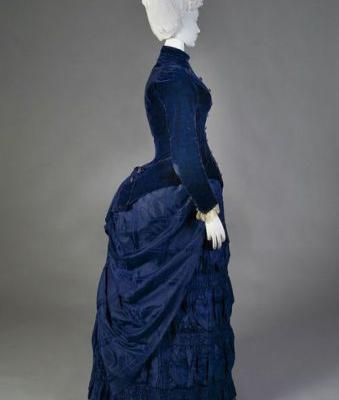Fashionsfromhistory: Afternoon Dress c.1888 Kent State