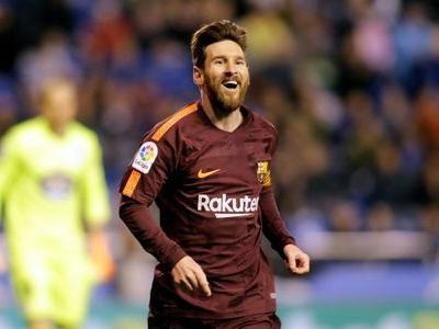 Barca clinch title in style as Messi treble downs Deportivo