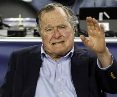 George H.W. Bush hospitalized for low blood pressure, fatigue