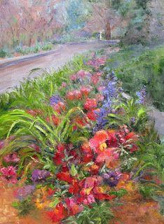Confetti Garden, Contemporary Landscape painting by Sheri Jones