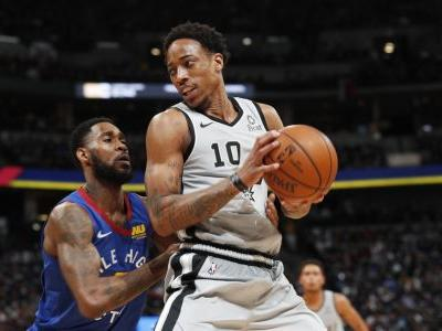 DeRozan leads Spurs past Nuggets in Game 1, 101-96