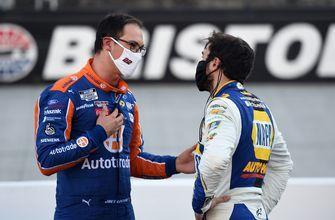Joey Logano and Chase Elliott break down what happened in the final laps   NASCAR ON FOX