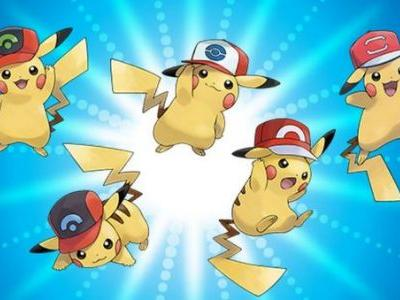 Get Pikachu wearing five of Ash's Hats in Pokemon Ultra Sun and Ultra Moon