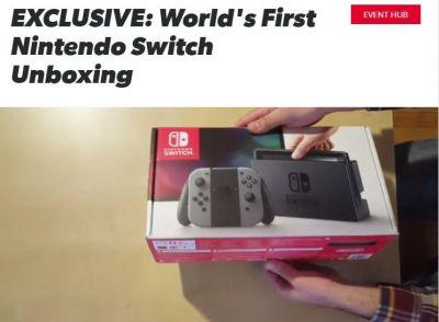 Here's a Nintendo Switch unboxing video