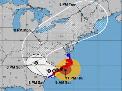 'Life-threatening' Hurricane Florence slows with powerful winds extending 195 miles from center