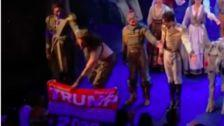 'Frozen' Actor Snatches Trump Flag From Audience Member During Curtain Call