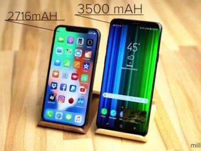 Watch the iPhone X and Galaxy S9+ go head-to-head in a battery life test
