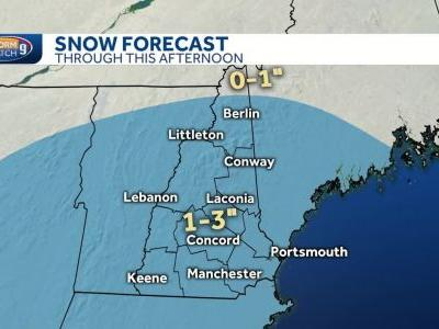 Light snow to fall across most of NH; 1-3 inches expected