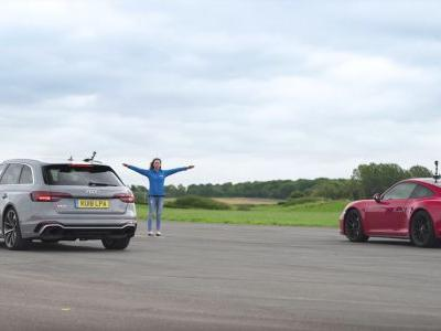 This Audi RS4 Vs Porsche 911 GTS Drag Race Is Unbelievably Close