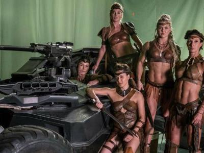 Justice League Behind the Scenes Photo: Amazons & The Batmobile