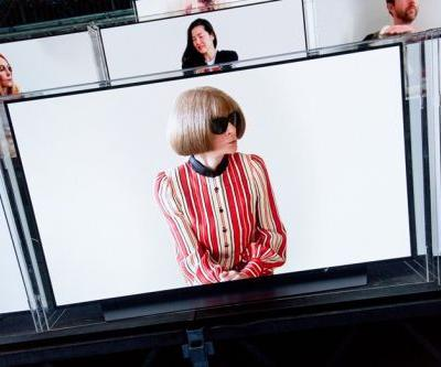 Anna Wintour and other VIPs watched Balmain's FROW from TV screens