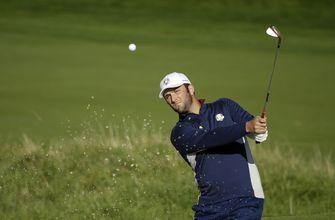 The Latest: Rahm quickly gets into Ryder Cup spirit